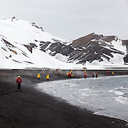 Adventure tourists visiting Antarctica. 2015 marks the 50th anniversary of tourism in the most southerly continent