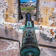 Cannon at San Cristobal fort.San Juan, Puerto Rico