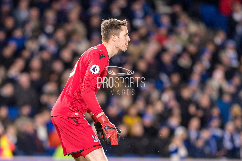 Crystal Palace #13 Wayne Hennessey during the Premier League match between Brighton and Hove Albion and Crystal Palace at the American Express Community Stadium, Brighton and Hove, England on 28 November 2017. Photo by Sebastian Frej.