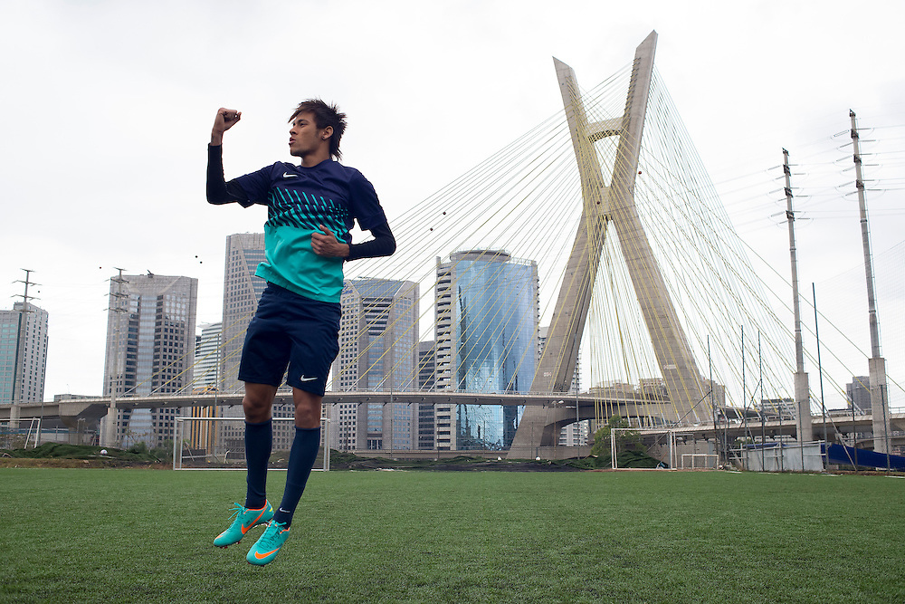 Sao Paulo, Brazil, September 27 of 2012:   Neymar and Vitinho for Nike Find Your Greatness campaig6. (Photo: Caio Guatelli)