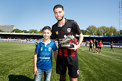 Hicham Faik of Excelsior player of the season during the Dutch Eredivisie match between sbv Excelsior Rotterdam and Ajax Amsterdam at Van Donge & De Roo stadium on May 06, 2018 in Rotterdam, The Netherlands