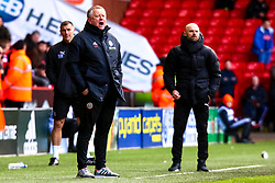 Sheffield United manager Chris Wilder and Rotherham United manager Paul Warne look on - Mandatory by-line: Ryan Crockett/JMP - 09/03/2019 - FOOTBALL - Bramall Lane - Sheffield, England - Sheffield United v Rotherham United - Sky Bet Championship