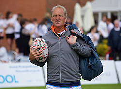LIVERPOOL, ENGLAND - Sunday, June 21, 2015: Peter McNamara (AUS) with a rugby ball during Day 4 of the Liverpool Hope University International Tennis Tournament at Liverpool Cricket Club. (Pic by David Rawcliffe/Propaganda)