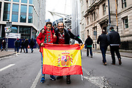 Fans enjoying the pre match atmosphere<br /> <br /> Photographer Simon King/Replay Images<br /> <br /> Six Nations Round 5 - Wales v Ireland - Saturday 16th March 2019 - Principality Stadium - Cardiff<br /> <br /> World Copyright © Replay Images . All rights reserved. info@replayimages.co.uk - http://replayimages.co.uk