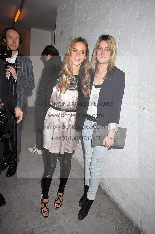 Left to right, AMANDA CROSSLEY and VIOLET VON WESTENHOLZ at the Prada Congo Art Party hosted by Miuccia Prada and Larry Gagosian at The Double Club, 7 Torrens Street, London EC1 on 10th February 2009.