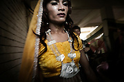 """Nepal 2008:  the first Transgender beauty contest of the new maoist republic of Nepal, .sponsored by the WORLD BANK and organised by blue diamond. .The contest will select the first ambassador for HIV / AIDS of Nepal..Getting ready for the first regional contest in Pokhara. """" le gran final """" will be in kathmandu the first of december.."""