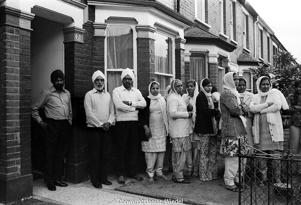 Family & friends of  following murdered Asian a Sikh schoolboy, Gurdip Singh Chaggar. Southhall London 1976. The BNP and other racist groups had been attacking the Asian community for several years.