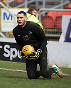14th April 2018, Tannadice Park, Dundee, Scotland; Scottish Championship football, Dundee United versus Falkirk; Deniz Dogan Mehmet of Dundee United