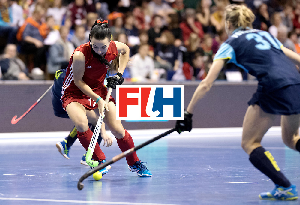 BERLIN - Indoor Hockey World Cup<br /> Bronze: Ukraine - Belarus<br /> foto: NIKITSINA Maryna.<br /> WORLDSPORTPICS COPYRIGHT FRANK UIJLENBROEK