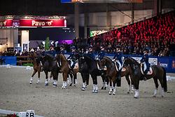 Quadrille van de Zilveren EK Teams Children en Junioren<br /> KWPN hengstenkeuring - 's Hertogenbosch 2020<br /> © Hippo Foto - Dirk Caremans<br /> 31/01/2020