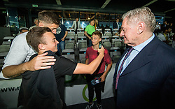 Igor Biscan, head coach of NK Olimpija Ljubljana with a fan and Milan Mandaric after winning during football match between NK Aluminij and NK Olimpija Ljubljana in the Final of Slovenian Football Cup 2017/18, on May 30, 2018 in SRC Stozice, Ljubljana, Slovenia. Photo by Vid Ponikvar / Sportida