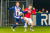 ALKMAAR - 25-01-2017, AZ - sc Heerenveen, AFAS Stadion, SC Heerenveen speler Sam Larsson , AZ speler Mattias Johansson