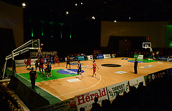 General view inside the Pavilions as the game is played. - Photo mandatory by-line: Alex James/JMP - 25/02/2018 - BASKETBALL - Plymouth Pavilions - Plymouth, England - Plymouth Raiders v Bristol Flyers - British Basketball League