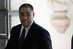 May 13, 2019 - Lisbon, Portugal - Macao's Special Administrative Region Chief Executive Fernando Chui Sai On arrives for a meeting with Portugal's President Marcelo Rebelo de Sousa at the Belem Palace in Lisbon, Portugal, on May 13, 2019. Fernando Chui Sai On will be in Portugal from May 12 to 18, in order to deepen the already dense relationship between Portugal and Macao. (Credit Image: © Pedro Fiuza/NurPhoto via ZUMA Press)