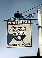 Pub Signs, The Camden Hotel, Pembury, Kent, Britain