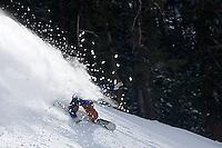 Eli Lieberman snowboarding at Kirkwood Resort, CA.