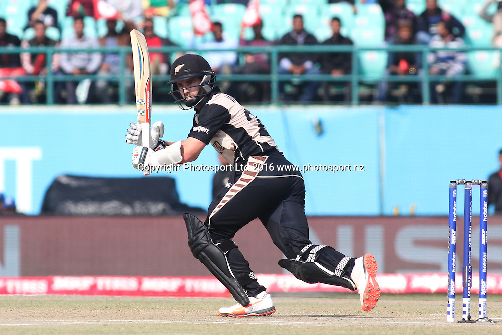 Kane Wiliamson during the World T20, 17th Match, Super 10 Group 2: Australia v New Zealand at Dharamsala, Mar 18, 2016, Copyright photo: www.photosport.nz