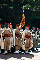 The 1st Spahis Regiment organized the commemoration of the Battle of Uskub on September 29, in memory of the commitment of their elders in Macedonia in 1918.<br /> The Uskub maneuver, today Skopje, is an attack by the Allied cavalry between 24 and 30 September 1918 in Macedonia, to cut the Bulgarian army in two, later leading Bulgaria to sign the armistice on September 29th.<br /> This commemoration took place in the presence of Philippe Loiacono, recently named General Military Governor of Lyon<br /> <br /> Le 1er&nbsp;r&eacute;giment de Spahis a organis&eacute; les comm&eacute;morations de la bataille d&rsquo;Uskub le 29 septembre, en souvenir de l&rsquo;engagement de leurs anciens en Mac&eacute;doine en 1918.<br /> En effet, la man&oelig;uvre d&rsquo;Uskub, aujourd&rsquo;hui Skopje est une attaque men&eacute;e par la cavalerie alli&eacute;e entre le 24 et le 30 septembre 1918 en Mac&eacute;doine, afin de couper en deux l&rsquo;arm&eacute;e bulgare, amenant par la suite la Bulgarie &agrave; signer l&rsquo;armistice le 29 septembre.<br /> Cette comm&eacute;moration a eu lieu en pr&eacute;sence de Philippe Loiacono, nouvellement nomm&eacute; g&eacute;n&eacute;ral Gouverneur militaire de Lyon<br /> <br /> En tant qu&rsquo;Officier G&eacute;n&eacute;ral de Zone de D&eacute;fense et de S&eacute;curit&eacute; (OGZDS), le g&eacute;n&eacute;ral de corps d&rsquo;arm&eacute;e Philippe Loiacono, Gouverneur militaire de Lyon, est charg&eacute; de la sauvegarde et de la participation des forces arm&eacute;es &agrave; la d&eacute;fense du territoire national, sous l&rsquo;autorit&eacute; du chef d&rsquo;&Eacute;tat-major des arm&eacute;es (CEMA).Philippe Loiacono, g&eacute;n&eacute;ral Gouverneur militaire de Lyon