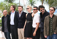 Bruno Delbonnel, Garrett Hedlund, Justin Timberlake, Carey Mulligan, Oscar Isaac, Joel Coen, Ethan Coen at the Coen brother's new film 'Inside Llewyn Davis' photocall at the Cannes Film Festival Sunday 19th May 2013