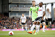 Fulham midfielder Neeskens Kebano (7) plays a pass during the EFL Sky Bet Championship match between Fulham and Wolverhampton Wanderers at Craven Cottage, London, England on 18 March 2017. Photo by Andy Walter.