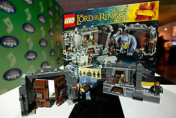 © Licensed to London News Pictures. 31/10/2012. London, UK. A Lego 'The Lord of the Rings: The Mines of Moria' (RRP GB£69.99) is seen at a Toy Retailers Association (TRA) fair in London today (31/10/12) as the organisation released its 13 Dream Toys for Christmas 2012. Photo credit: Matt Cetti-Roberts/LNP