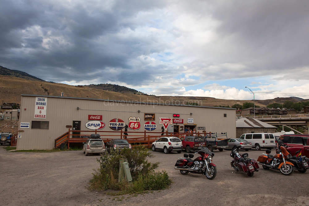 Iron Horse Bar and Grille,  town of Gardiner, Montana, the north west gateway town to Yellowstone National Park.