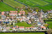 Nederland, Noord-Holland, Amsterdam-Noord, 20-04-2015; landelijk Noord, Zunderdorp.<br /> Small village north of Amsterdam.<br /> luchtfoto (toeslag op standard tarieven);<br /> aerial photo (additional fee required);<br /> copyright foto/photo Siebe Swart