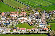 Nederland, Noord-Holland, Amsterdam-Noord, 20-04-2015; landelijk Noord, Zunderdorp.<br /> Small village north of Amsterdam.<br /> luchtfoto (toeslag op standard tarieven);<br /> aerial photo (additional fee required);<br /> copyright foto/photo Siebe Swart