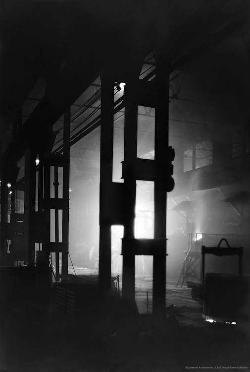 Hadfield Steel Works Silhouette, Sheffield, Yorkshire, England, 1925