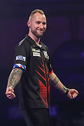Danny Noppert wins his second round match against Callan Rydz during the PDC William Hill World Darts Championship at Alexandra Palace, London, United Kingdom on 19 December 2019.