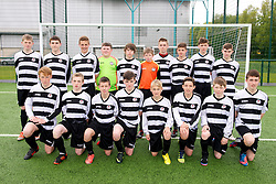 NEWPORT, WALES - Tuesday, May 28, 2013: North Welsh Premier League Academy Boys players line up for a team group photograph before the Welsh Football Trust Cymru Cup at Dragon Park. Back row L-R: xxxx, xxxx, xxxx, xxxx, Ryan Hulse, xxxx, Sam Moffatt, Brady McGilloway, xxxx, xxxx. Front row L-R: North Welsh Premier League Academy Boys' Toby Sylvester, North Welsh Premier League Academy Boys' Ilan Ap Gareth, Aron Jones, xxxx, North Welsh Premier League Academy Boys' Jordan Johnson, xxxx, xxxx, xxxx. (Pic by David Rawcliffe/Propaganda)