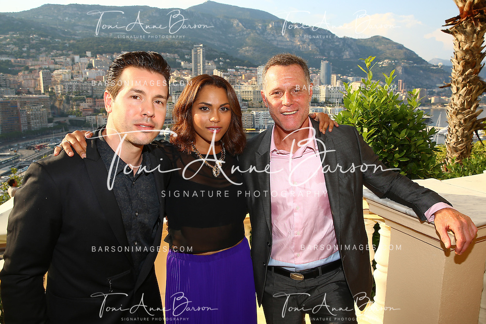 MONTE-CARLO, MONACO - JUNE 09:  (L-R) Jon Seda, Monica Raymund and Jason Beghe attend a Cocktail Reception at the Ministere d'etat on June 9, 2014 in Monte-Carlo, Monaco.  (Photo by Pool Barson/FilmMagic)
