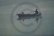 Outdoor Recreation, Fishing Boat on Susquehanna River, PA