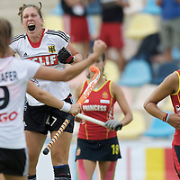 MONCHENGLADBACH - Junior World Cup<br /> Pool D: Germany - Spain<br /> photo:  Rebecca grote celebrates.<br /> COPYRIGHT  FFU PRESS AGENCY/ FRANK UIJLENBROEK