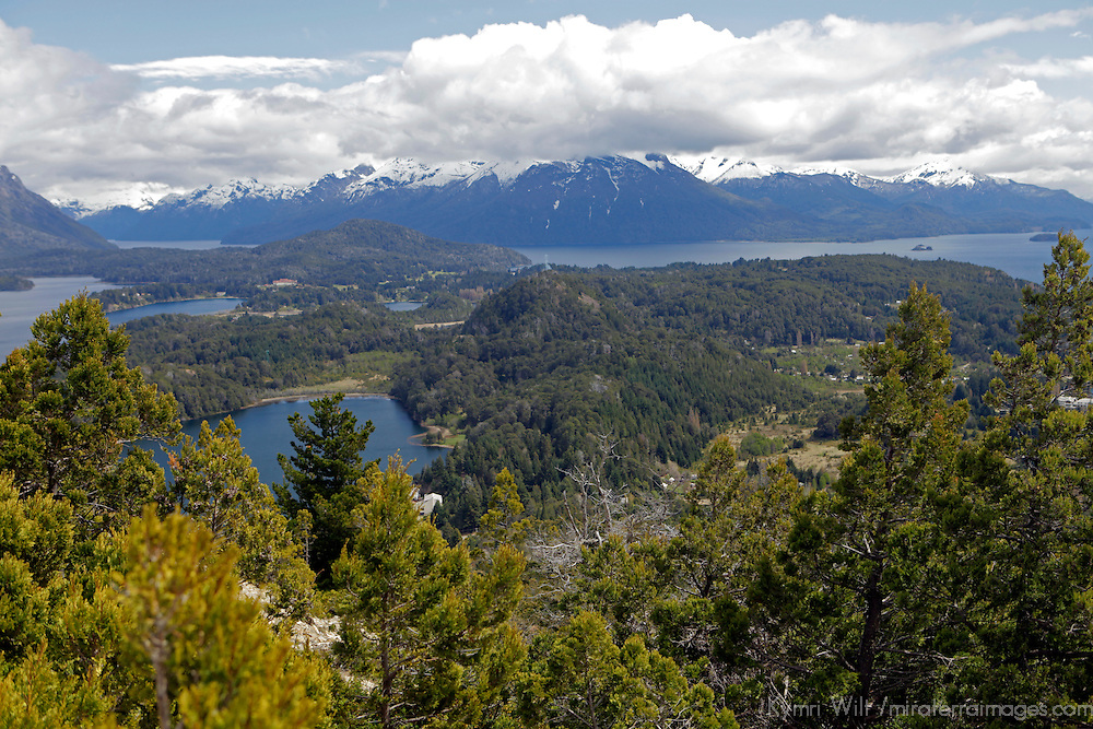 South America, Argentina, Bariloche. View from Cerro Campinario.