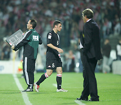 WARSAW, POLAND - WEDNESDAY, SEPTEMBER 7th, 2005: Wales' Jason Koumas is substituted against Poland during the World Cup Group Six Qualifying match at the Legia Stadium. (Pic by David Rawcliffe/Propaganda)