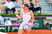 Pauline Parmentier (fra) during the Roland Garros French Tennis Open 2018, day 4, on May 30, 2018, at the Roland Garros Stadium in Paris, France - Photo Pierre Charlier / ProSportsImages / DPPI