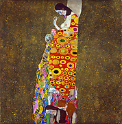 Gustav Klimt, Austrian artist. Hope II, Oil, gold, and platinum on canvas 1908