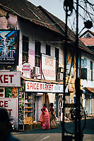 Fort Kochi, India -- February 14, 2018: The streets of Mattancherry, the original Jewish settlement in Fort Kochi.