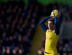 LONDON, ENGLAND - Saturday, February 21, 2015: Arsenal's Nacho Monreal in action against Crystal Palace during the Premier League match at Selhurst Park. (Pic by David Rawcliffe/Propaganda)