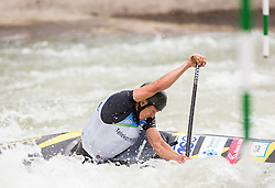 Anze Bercic of Slovenia competes during ICF Canoe Slalom World Cup Tacen 2014 on June 14, 2014 in Ljubljana, Slovenia. Photo by Vid Ponikvar / Sportida