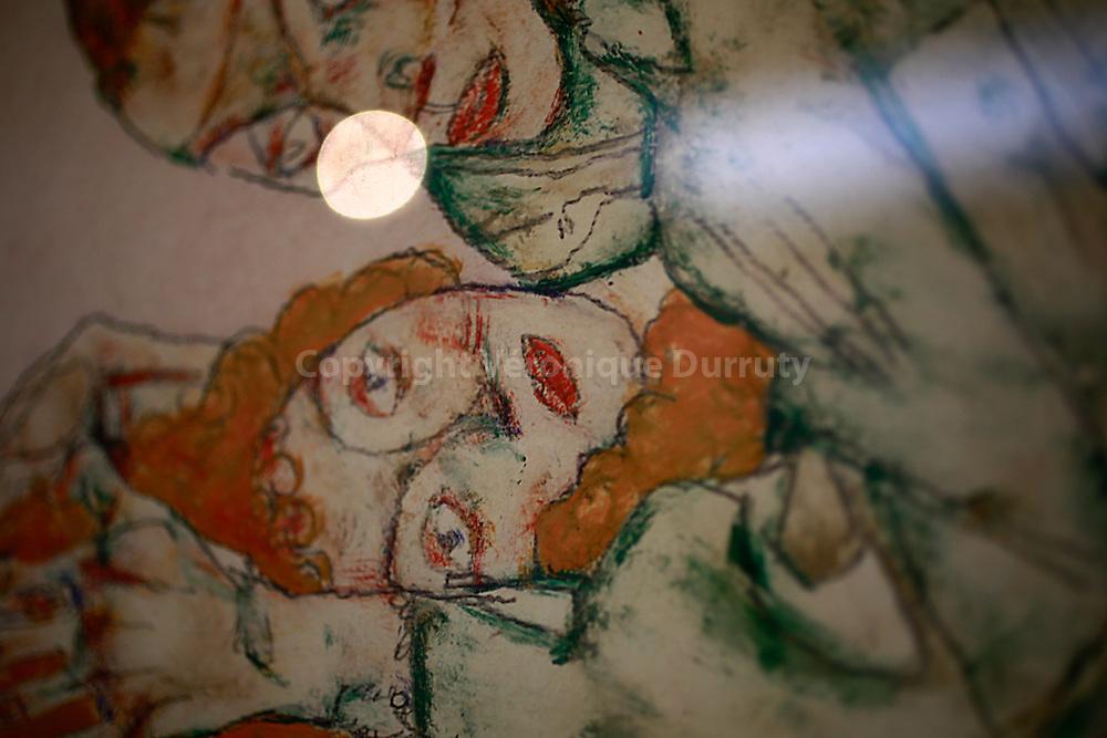 Egon Schiele, Liebesakt, 1915 ( lovemaking ), Leopold Museum, Vienna, Austria - detail // Egon Schiele, Liebesakt, 1915 ( Faire l'amour ), Musee Leopold, Vienne, Autriche - detail