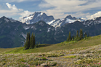 Dome Peak seen from Miner's Ridge, Glacier Peak Wilderness, North Cascades Washington