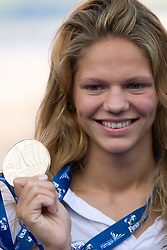 Winner  Yuliya  Efimova of Russia at the victory ceremony after the Women's  50m Breaststroke Final during the 13th FINA World Championships Roma 2009, on August 2, 2009, at the Stadio del Nuoto,  in Foro Italico, Rome, Italy. (Photo by Vid Ponikvar / Sportida)