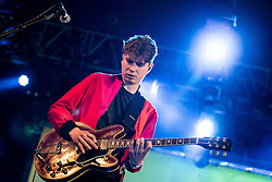 © Licensed to London News Pictures . 06/06/2015. Manchester , UK . ALEX ROBERTSHAW . Everything Everything perform on the Big Top stage at The Parklife 2015 music festival in Heaton Park , Manchester . Photo credit : Joel Goodman/LNP