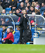 7th April 2018, Ibrox Stadium, Glasgow, Scotland; Scottish Premier League football, Rangers versus Dundee; Dundee manager Neil McCann