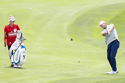June 22, 2018 - Madison, WI, U.S. - MADISON, WI - JUNE 22: Steve Stricker hits his third shot on the ninth hole during the American Family Insurance Championship Champions Tour golf tournament on June 22, 2018 at University Ridge Golf Course in Madison, WI. (Photo by Lawrence Iles/Icon Sportswire) (Credit Image: © Lawrence Iles/Icon SMI via ZUMA Press)