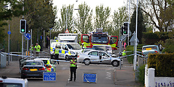 RTC Oakley 15-5-2016<br /> <br /> RTC in Oakley Fife following a police chase at the junction of Sir George Bruce Road and Station Road<br /> <br /> (c) David Wardle | Edinburgh Elite media