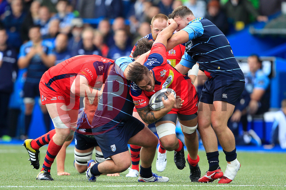 Jack Lam of Bristol Rugby (C) in action - Mandatory by-line: Ian Smith/JMP - 20/08/2016 - RUGBY - BT Sport Cardiff Arms Park - Cardiff, Wales - Cardiff Blues v Bristol Rugby - Pre-season friendly