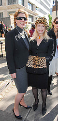 Left to right, PRINCESS KATERINA OF YUGOSLAVIA and LADY COLIN CAMPBELL at the memorial service of Isabella Blow held at the Guards Chapel, London W1 on 18th September 2007.<br /> <br /> NON EXCLUSIVE - WORLD RIGHTS